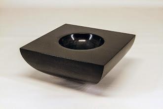 "Photo: Ken Lobo 6"" x 3"" square bowl [poplar, coloring]"