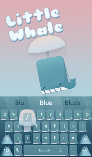 TouchPal Little Whale Theme