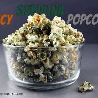 Spicy Spirulina Popcorn.