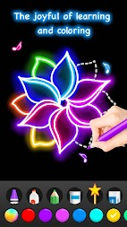 Learn To Draw Glow Flower APK screenshot thumbnail 6