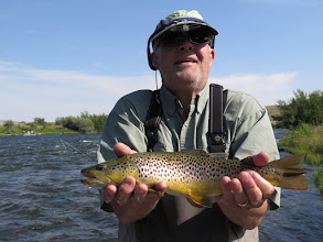 Photo: Dan Monfort and a Madison River Brown Trout
