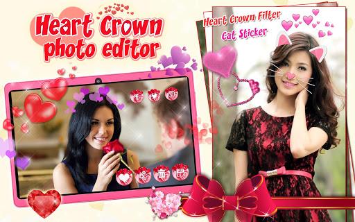 Heart Crown Photo Editor ? Selfie Camera App 1.3 screenshots 9