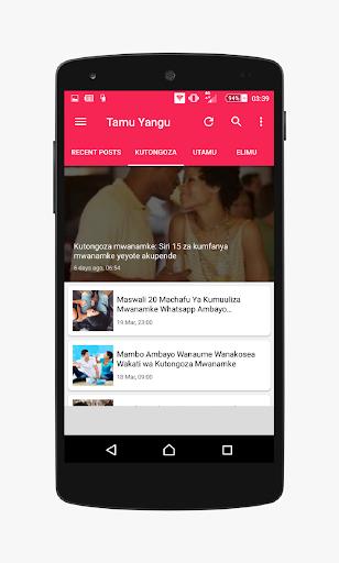 Tamu Yangu - wakubwa tU screenshot 3