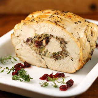Slow Cooker Turkey Breast Stuffed With Wild Rice And Cranberries{gluten-free}.