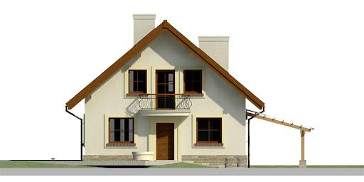 Dom przy Cyprysowej 27 - Elewacja przednia
