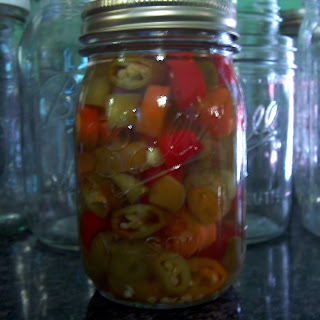 Pickled Hot Pepper Rings.