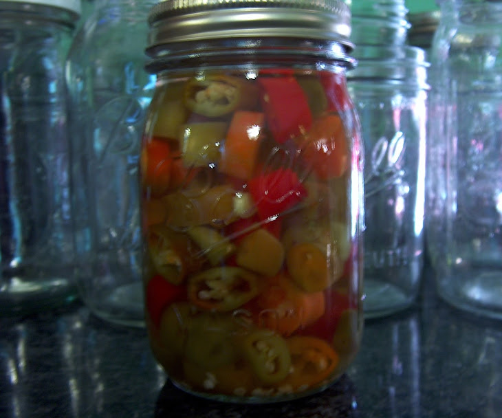 Pickled Hot Pepper Rings Recipe