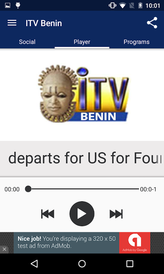 ITV Benin- screenshot