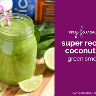 Super Recovery Coconut-Lime Green Smoothie.