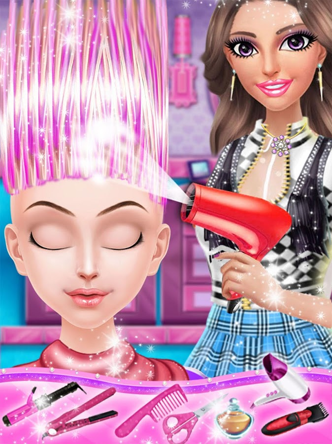 Realistic Hair Styling Games Hair Color And Styles For Medium