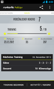 Runtastic Pull-Ups PRO Trainer Screenshot