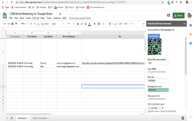 CRM Email Marketing For Google Sheet - Google Sheets add
