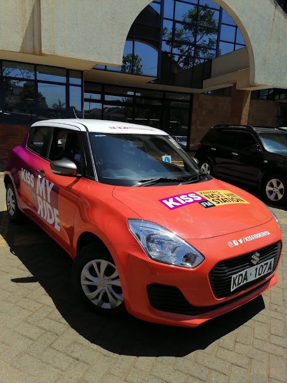The brand new car from Kiss 100 Kenya
