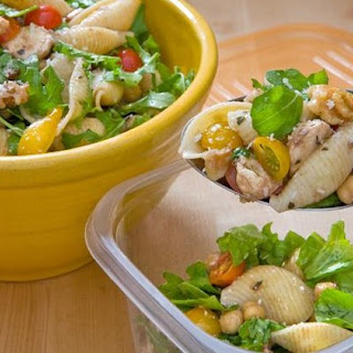 Pasta Salad with Chickpeas, Walnuts and Arugula