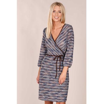 Liboria Wrap Knit Dress Blue - Pernilla Wahlgren