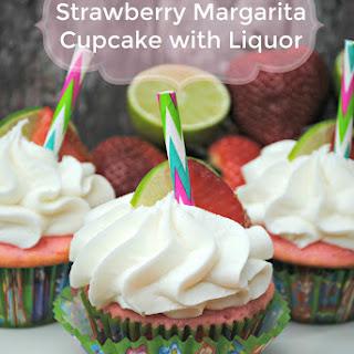 Strawberry Margarita Cupcake with Liquor.