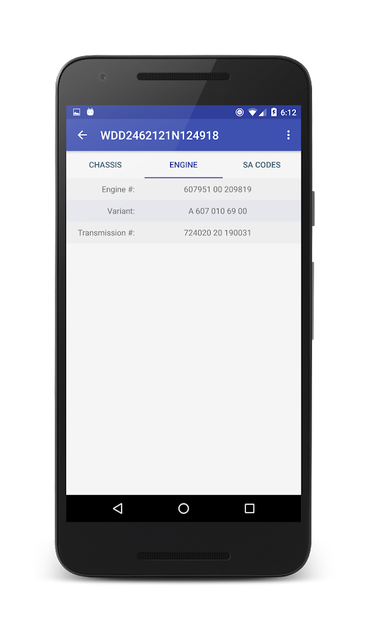 VIN decoder for Mercedes Benz - Android Apps on Google Play
