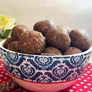 Walnut Oatmeal Energy Balls-Laddu Recipe
