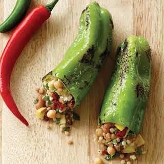 Grilled Stuffed Cubanelle Peppers.