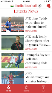 Indian Football Super League Latests News Screenshot