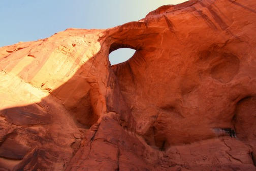 Photo: Monument Valley Arch   http://bestwesternarizona.com