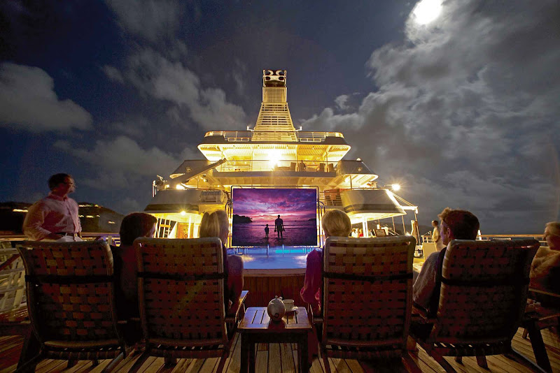 Watch Starlit Movies on deck under the stars on your SeaDream sailing.