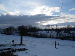 Photo: mooi zicht vanuit de gîte bij het vertrek de volgende ochtend