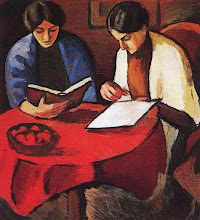 """Photo: August Macke, """"Due donne al tavolo"""" (1910)"""