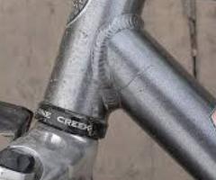 треснутая рама на бу велосипеде