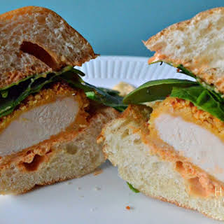 Southwest Chicken Sandwich with Smoked Paprika Ranch Dressing.