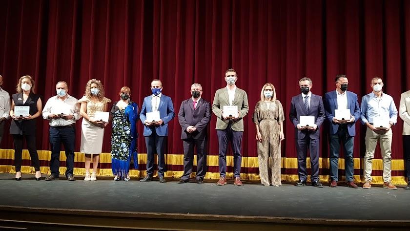 Galardonados en la gala del Día Internacional de Cooperativismo.