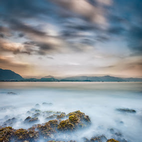 Silky Afternoon by M. Tuflichun Alfath - Landscapes Waterscapes ( sky, waves, rocks )