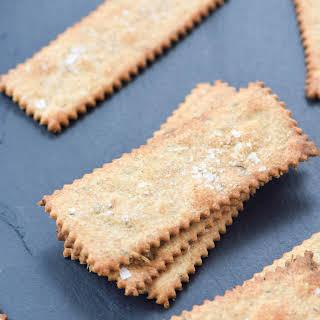 Herb Sourdough Crackers.