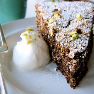 Pistachio Chocolate Torte.