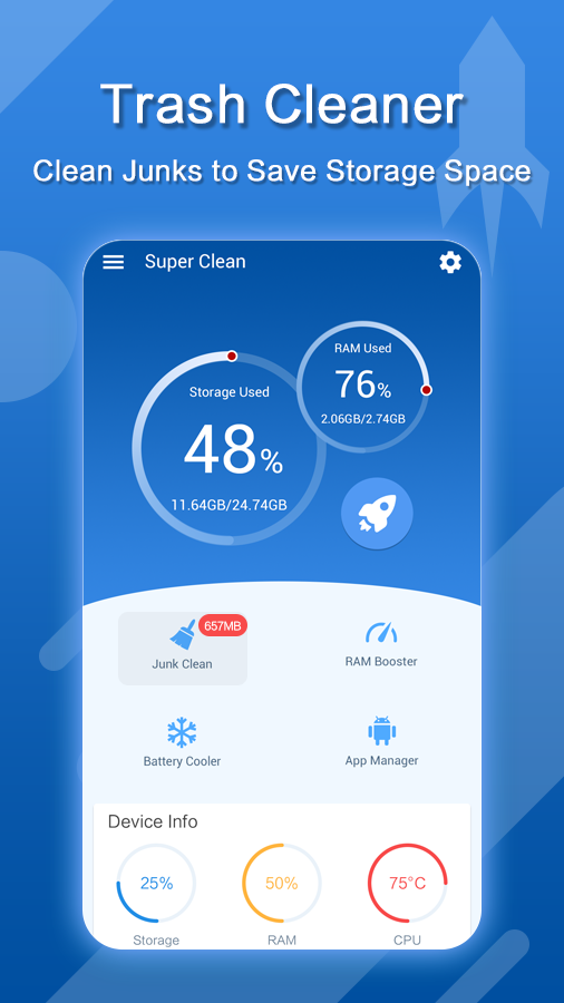 Super Cleaner - Phone Cleaner & Speed Booster- screenshot
