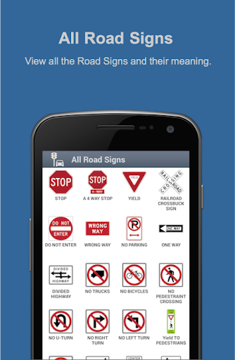 Road Signs Practise Test USA