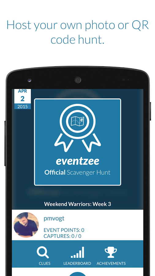 Eventzee - Scavenger Hunts- screenshot