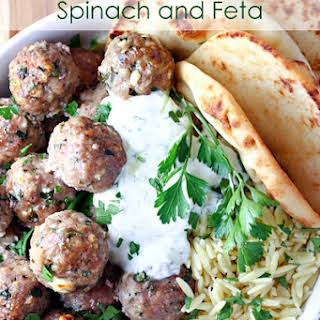 Greek Turkey Meatballs with Spinach and Feta.
