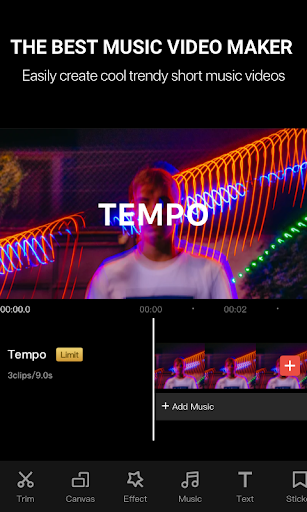 Tempo - Music Video Editor with Effects 2.0.1 Screenshots 1