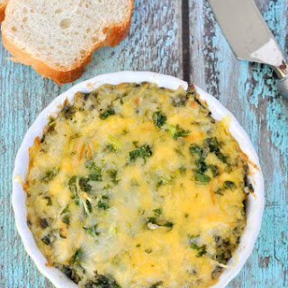 Triple Cheese Kale Dip.