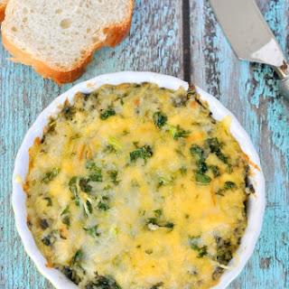 Triple Cheese Kale Dip.