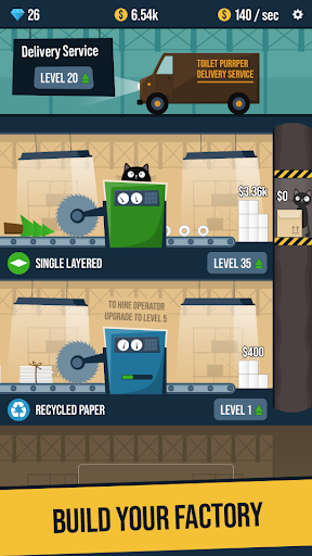 Toilet Paper Factory Idle 2.9 screenshots 1