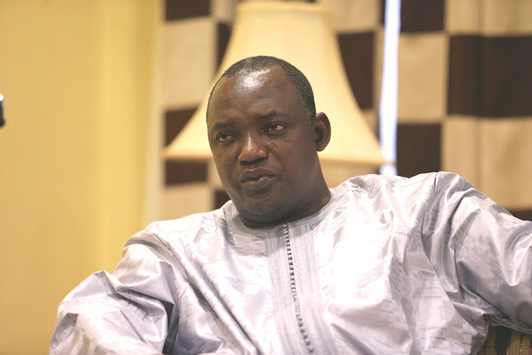 Adama Barrow. Picture: REUTERS