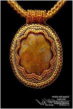 Photo: Pendant with Agatized Fossil Coral - Кулон з скам'янілим коралом