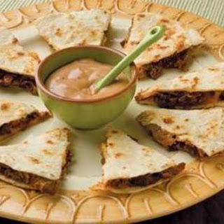 BBQ Ranch Quesadilla Wedges