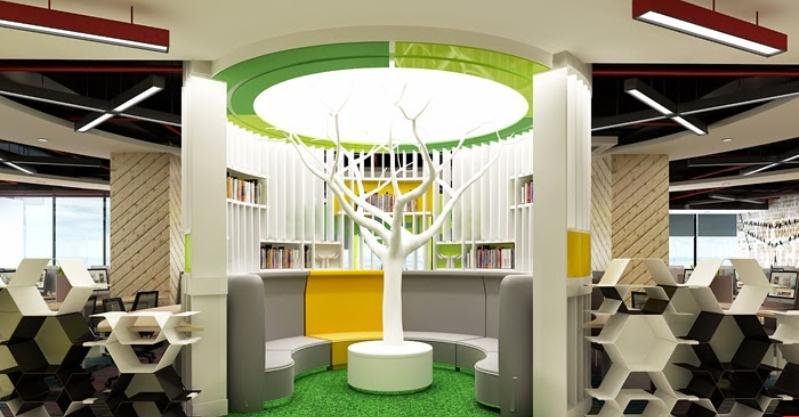 Thiết kế nội thất văn phòng của Lotus tại VCcorp