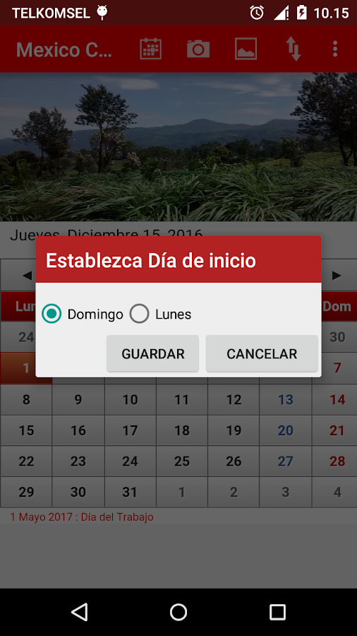 Mexico Calendario 2017- screenshot