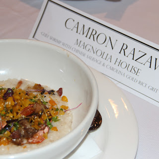 Gulf Shrimp with Chinese Sausage and Carolina Gold Rice Grit Congee