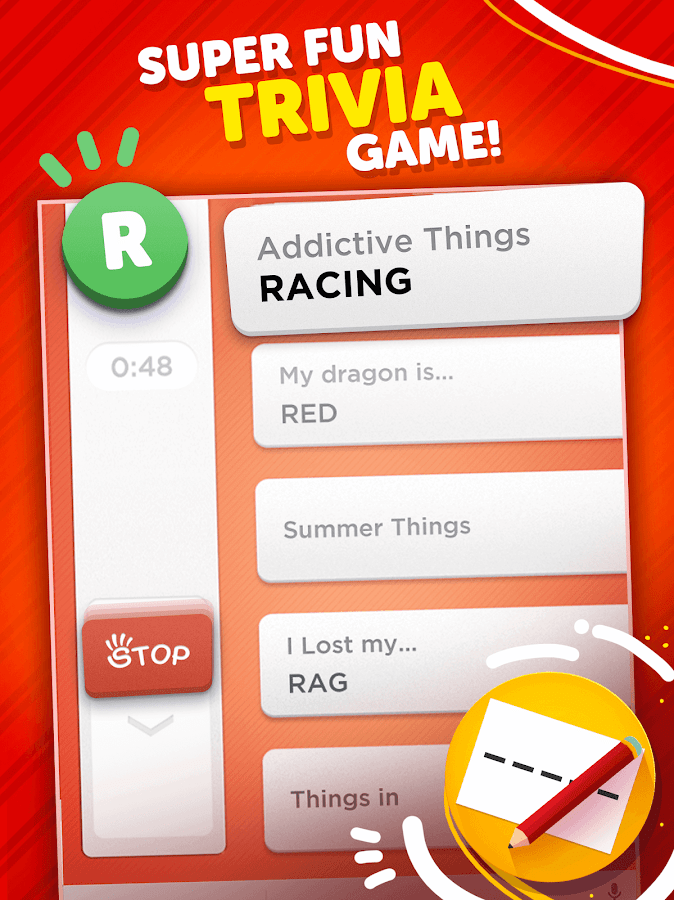 Stop - Categories Word Game- screenshot