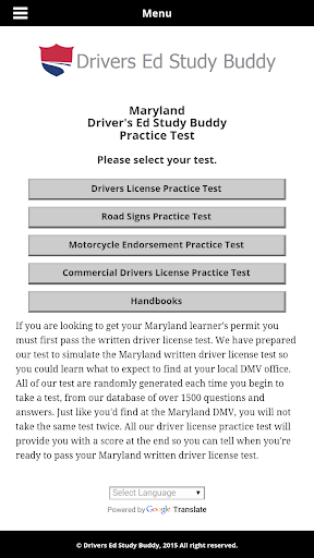 Maryland Driver License Test